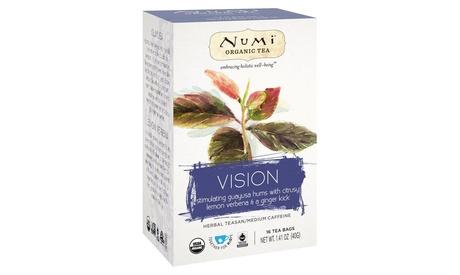 NUMI ORGANIC TEA HERBAL TEASAN, VISION ( 6 - 16 CT )