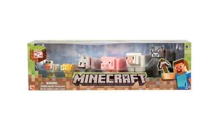 Minecraft Overworld Animal Mobs Action Figure Toy Set 6 - Pack Jazware e13b3ce6-ca28-4939-9d9d-3fc014888e28