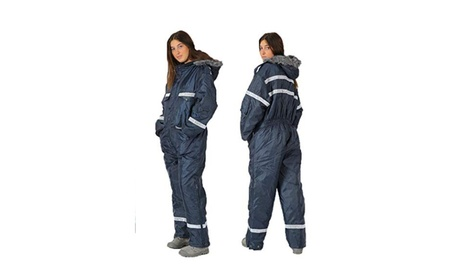 Unisex Navy Blue Snow Ski Suit Coverall Insulated Suit With Reflector 049dd7e5-613b-4537-b641-059c245699a3