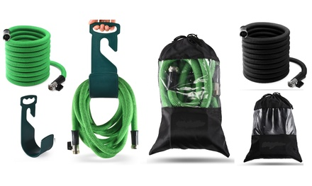 Expandable Garden Hose Set With Nickel Brass Connector/Nozzle/Hanger/Bag Was: $69.99 Now: $17.99