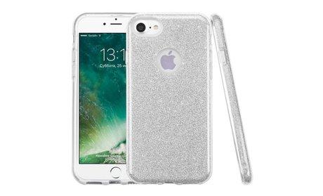 For Apple iPhone 7 Bling Glitter Hybrid Protective Hard Case