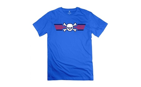 Top Gun Skull Royal Blue T-shirt For Men 31a69fad-4182-475d-afba-8ca5dec54b98