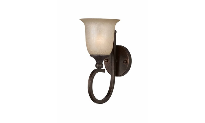 Bordeaux Collection 1-Light Bronze Wall Sconce