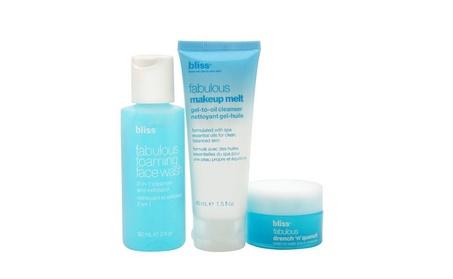 bliss Oh, Glow On! Gift Set 3 Pcs fabulous skin care trio