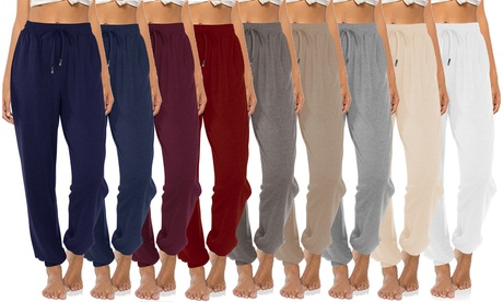 Women's High Waisted Sweatpants Comfy Drawstring Lounge Pants Loose Yoga Pants
