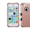 Insten Tuff Hard Dual Coated Silicone Case For Iphone 5c Rose Gold