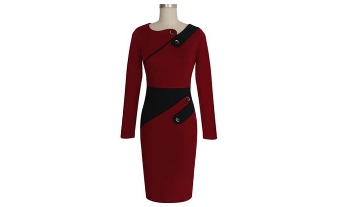 bd976b7665b Women Bodycon Long Sleeveless Slim Evening Formal Dress UWD367-UWD368