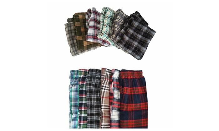 plaid 100 cotton pajama pants 3 pack groupon. Black Bedroom Furniture Sets. Home Design Ideas