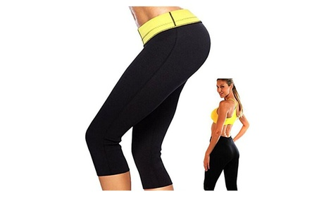 Women Hot Neoprene Body Shaper Workout Pant Athletic Thermo Yoga Black d77bd01b-0106-448f-a809-9393f2e824f0