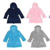 Ultra Soft Kids Bathrobe Plush Fleece Hooded Robe for Girls & Boys