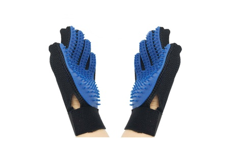 Pet Grooming Gloves Brush Dog Cat Hair Remover Mitt Massage Pair b655e6ec-d825-4818-ac4a-15ea3b12ee57