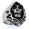 Stainless Steel Biker Reaper Skull Ring SSR45