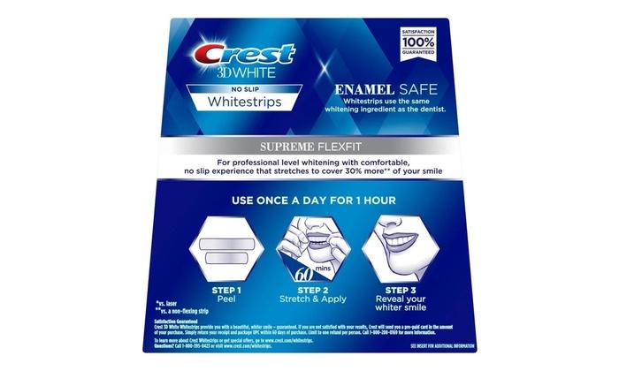 Crest 3d White Supreme Flexfit Whitestrips Teeth Whitening Kit