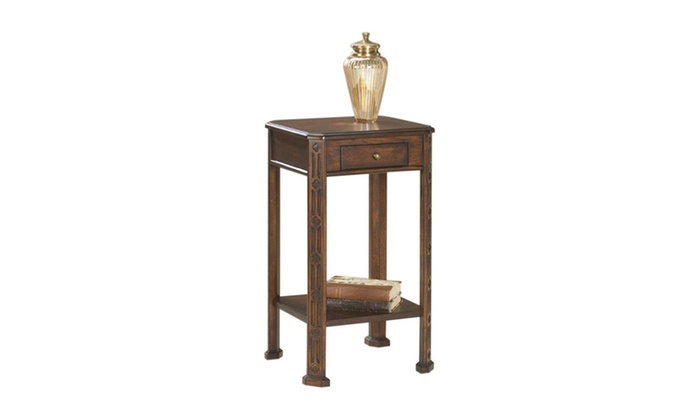 Offex Rectangular Accent Table Plantation Cherry Light Brown
