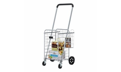 Folding Shopping Cart, Utility Cart for Grocery, 66 lbs Max Capacity