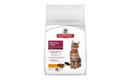 Hill's Science Diet Adult Optimal Care Chicken Recipe Dry Cat Food