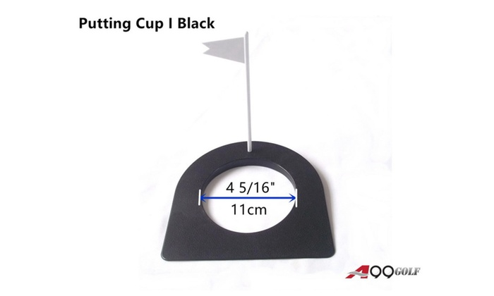 A99 Golf Putting Cup Black with Flag