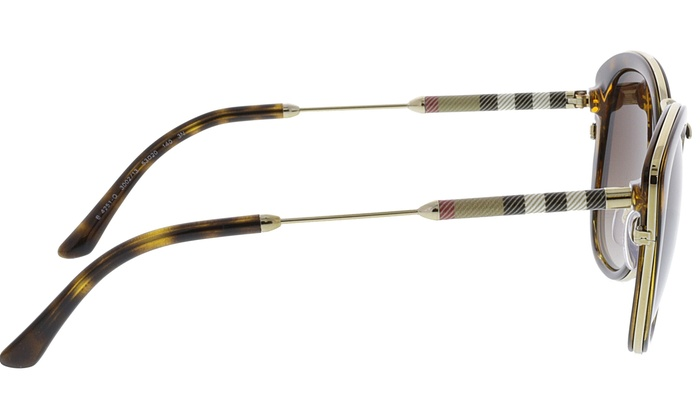 6dda3a781a7 ... Burberry Women s Gradient BE4251Q-300213-53 Brown Cat Eye Sunglasses ...