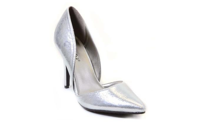 D'Orsay Metallic Vegan Pointy Toe Single Sole Women's Pump