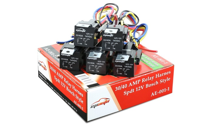Outstanding 5 Pack 30 40 Amp Relay Harness Spdt 12V Bosch Style Groupon Wiring Digital Resources Attrlexorcompassionincorg