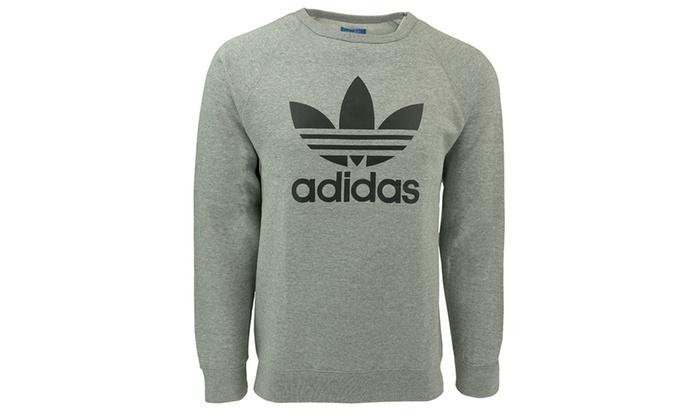 658ff9ca84d0 Adidas Originals Men's Trefoil Crew Sweatshirt | Groupon