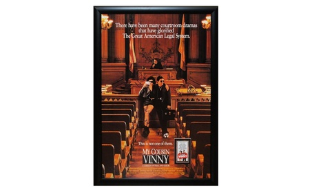 My Cousin Vinny - Cast Signed Movie Poster Wood Framed a8291779-0e1d-49b6-836c-5eedd6180437