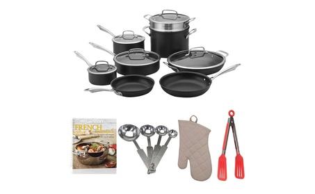 Cuisinart Hard Anodized 13-Pc Set + Cookbook, Measuring Spoons, & more 8bb534b0-8b2e-49c7-a450-da8c65725be3