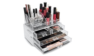 Sorbus Cosmetic and Makeup Storage Case Display (2-Piece)