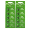 Loopacell 393 Silver Oxide 10 Batteries (SR754W)