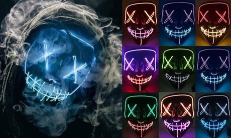 Halloween Mask LED Light Up Mask for Festival Funny Cosplay Halloween Costume