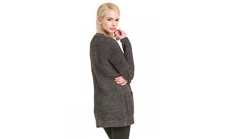 Women's Button Down Ribbed Cardigan (Size L) b6c4570a-b7e0-4547-a7ea-f5da43d927fb