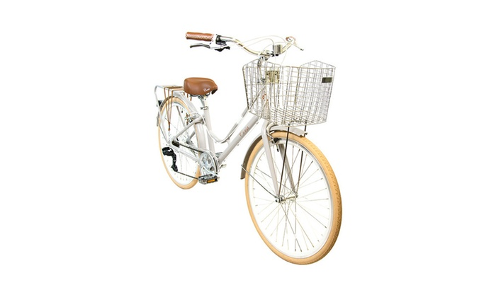 Classic - Aluminum Comfort Bicycle with Basket (Beige)