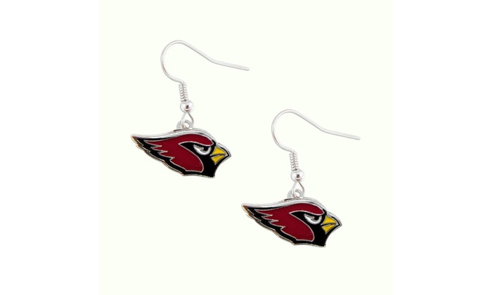 Arizona Cardinals Dangle Logo Earring Set Charm Gift NFL
