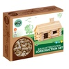 VARIS - Traditional All Wooden Log Construction Toy, 35 Piece Little House
