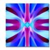Amy Vangsgard 'Tree Light Symmetry Blue and Purple' Canvas Art