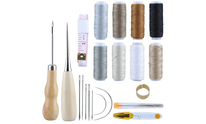 Pack of 7 Hand Repair Kit SEWING NEEDLES LEATHER UPHOLSTERY Carpet Canvas Curved