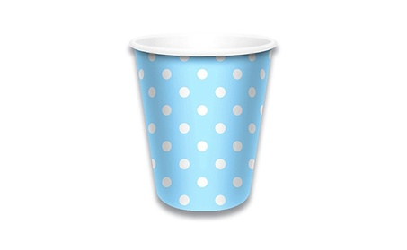 LolliZ 9 Oz Cups Polka Dots-Blue 12-Pack 64ab9bb7-e9e1-4647-9a73-48d2ccdee5e3