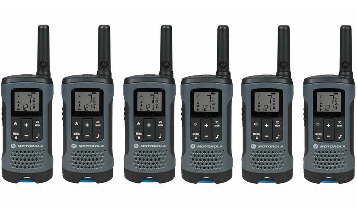Rechargeable Walkie Talkie 6 PACK Motorola 20 Mile Gray 2 Way Radio FRS//GMRS