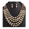 Multilayer Simulated Pearl Women's Necklace Jewelry Set
