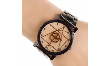 Fashion Luxury Men Women Compass Watch Stainless Steel Quartz Analog Wrist Watch