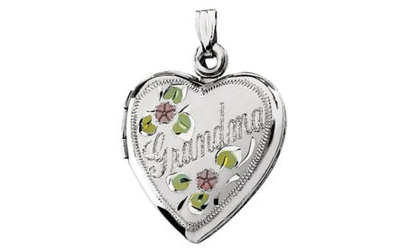 Sterling Silver Grandma Heart Shape Locket 4d7e1d21-ce88-4ed2-b375-6e160972fc32