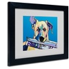 Pat Saunders-White 'Daily Duty' Matted Black Framed Art