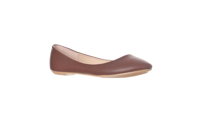 Riverberry 'Aria' Rounded Toe Ballet Flat Slip On, Wine PU
