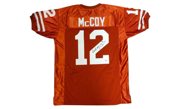 competitive price 5b630 799d1 Autographed Colt McCoy Texas Longhorns Orange Custom Jersey