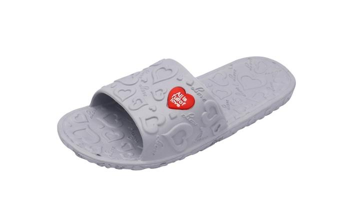 Men's EVA Shower Floor Slide Slipper Sandals 2 pair