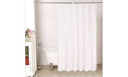 Shop Groupon Waterproof Mildew Resistant Bath Shower Curtain With Hooks
