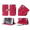Insten Leopard Leather Fabric Case For Iphone 6 Plus/6s Plus Red/black