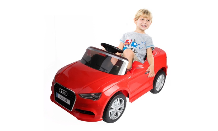0fc378483f3 12V Audi A3 Licensed RC Kids Ride On Car Electric Remote Control LED Light  Music