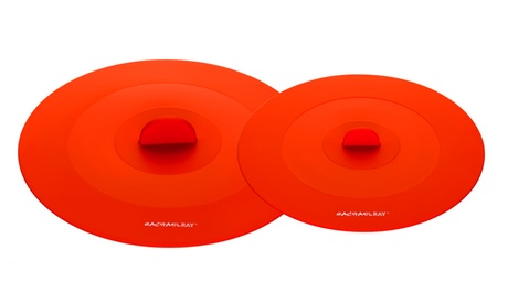 Rachael Ray Accessories 2-Piece Top This! Suction Lid Set, Orange 18c07c83-4cc3-47d8-b3d9-11061bd0c491