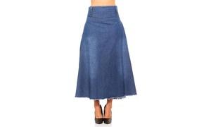 Red Jeans Women's Maxi Light Weight Fashionable Denim Skirt